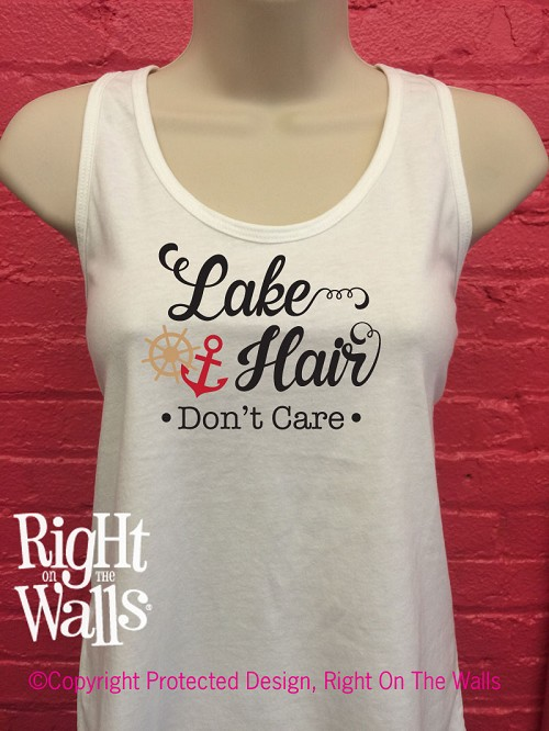 Lake Hair Don't Care Women's Racerback Tank