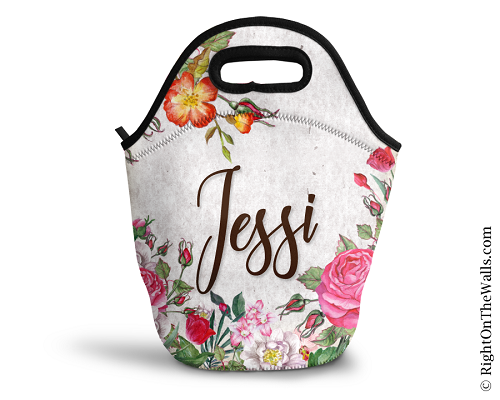 Personalized Lunch Bag in Vintage Floral