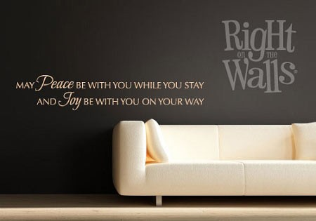 Peace Be With You Family Wall Decal