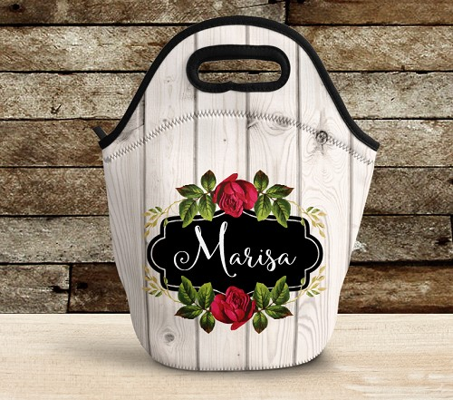 Personalized Lunch Bag Beechwood Rose