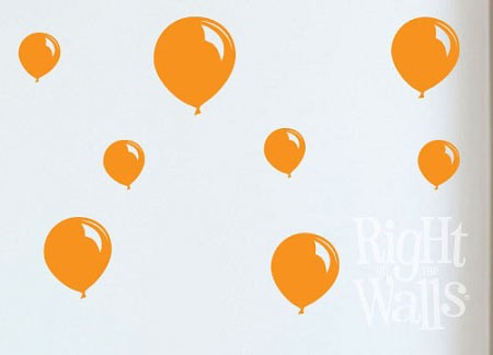 Balloon Shapes Party Wall Decal Set