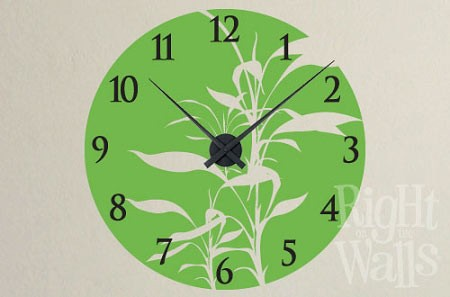 Bamboo Vinyl Wall Decal Clock