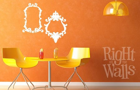 Baroque Frames Family Vinyl Wall Decal