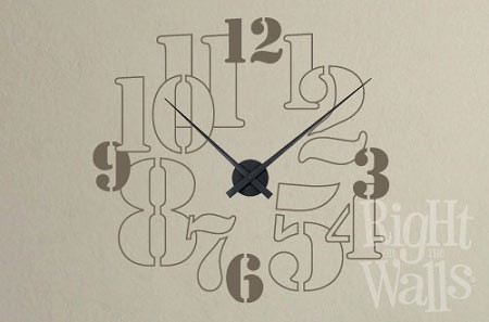 Big Numbers Vinyl Wall Decal Clock