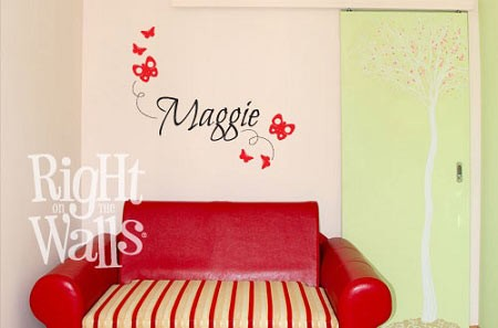 Custom Butterfly Kids Vinyl Wall Decal