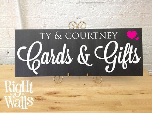 Cards & Gifts Table Sign, Personalized Wedding Sign