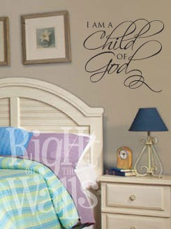 Child Of God Religious Kids Vinyl Wall Decal