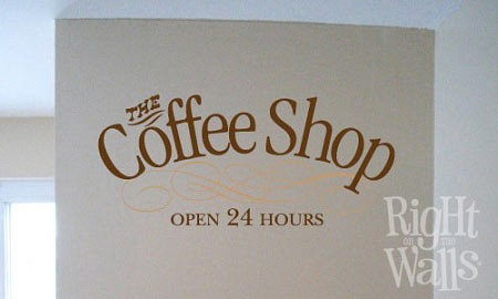Coffee Shop Vinyl Wall Decal