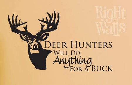 Deer Hunting Manly Wall Decal Man Cave Vinyl Wall Art