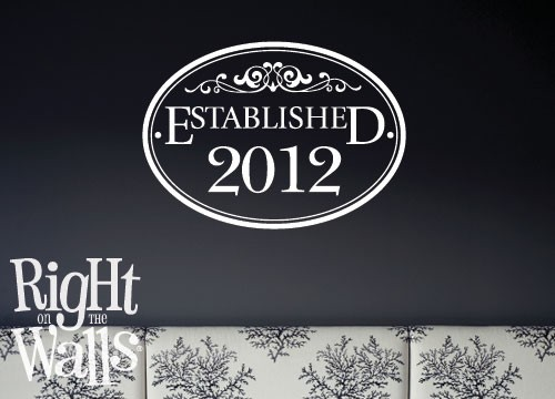 Family Established Wall Decal Sign, Custom Family Vinyl Wall Art