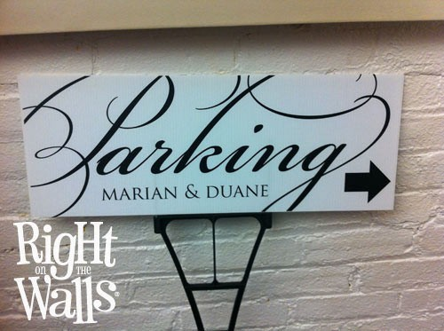 Fancy Wedding Parking Sign, Personalized Wedding Sign, Outdoor Sign