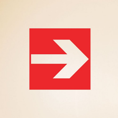 Fire Exit Arrow Wall Sign