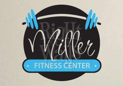 home fitness center gym wall decals, vinyl art stickers