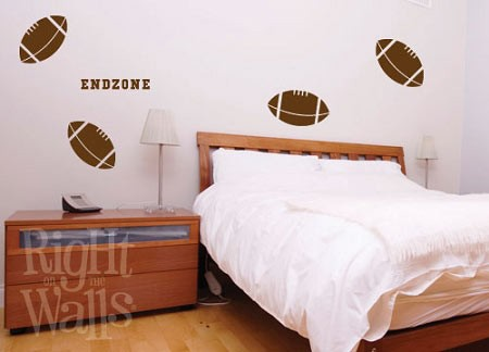 Football Shapes Sports Wall Decal