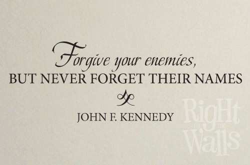 Forgive Your Enemies Wall Decal, Military Vinyl Wall Quote, Americana