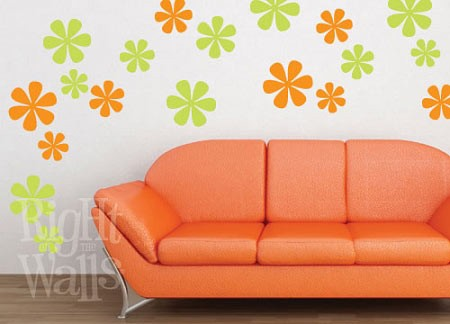 Flower Shapes Vinyl Wall Decal