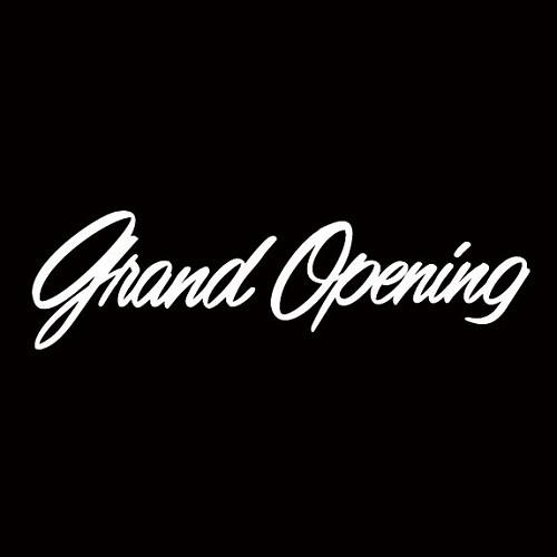 Grand Opening Window Sticker