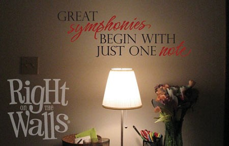 Great Symphonies Vinyl Saying Wall Quote