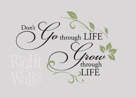Grow Thru Life Wall Quote, Family Wall Decal