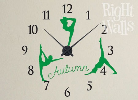 Gymnast Vinyl Wall Decal Sports Clock