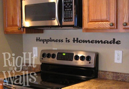 Happiness Is Homemade Kitchen Wall Sticker