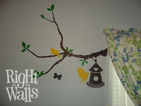 Birdhouse Branch Tree Vinyl Wall Art Wall Decal