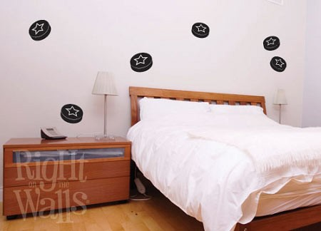 Hockey Puck Shapes Sports Wall Decal