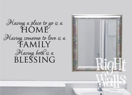 Home Family Blessing Vinyl Saying Wall Quote Vinyl Wall Decal