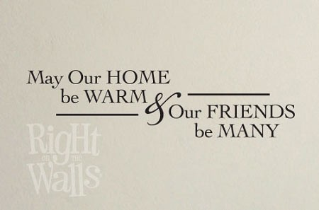 Warm Home Vinyl Saying Wall Decal