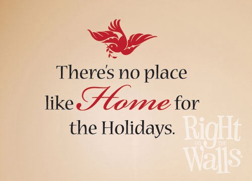 Home for Holidays Wall Decal, Vinyl Wall Art, Wall Decor