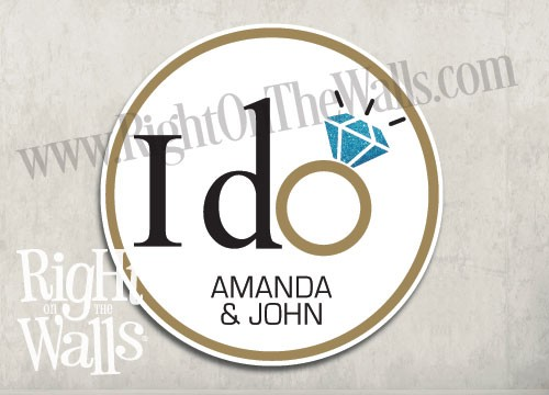 I Do Wedding Personalized Stickers & Labels, Party Favor Stickers