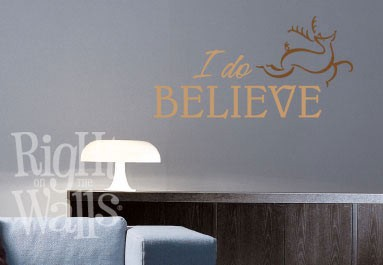 I Do Believe in Santa Wall Decal, Vinyl Wall Art, Wall Decor