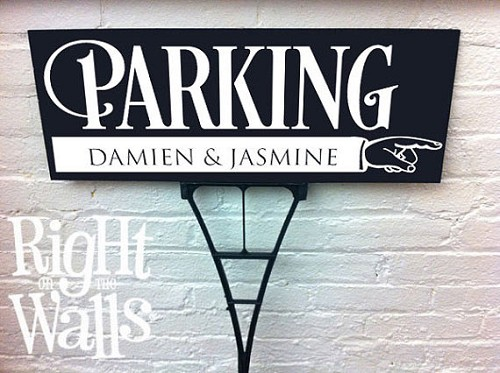 Custom Bold Parking Directional Sign, Parking Sign, Yard Sign, Wedding Sign