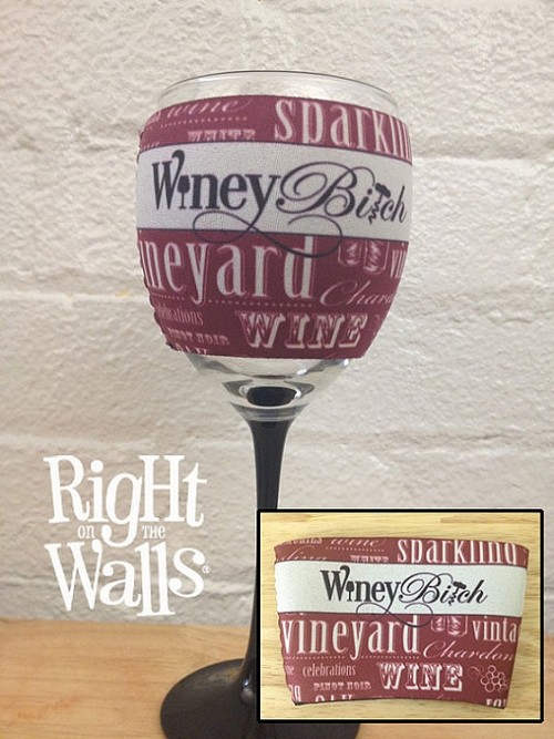 Winey Bitch Wine Glass Cozy, Wine Glass Hugger