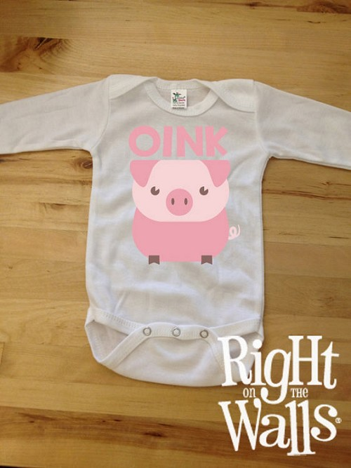 Pig OINK Baby Onesie or T-shirt