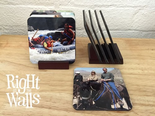 Wooden Photo Coasters (Set of 4)