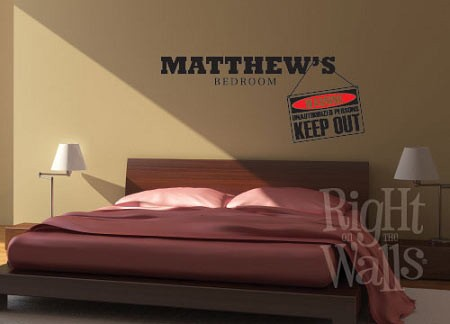 Keep Out Street Sign Wall Decal, Kids Vinyl Wall Art