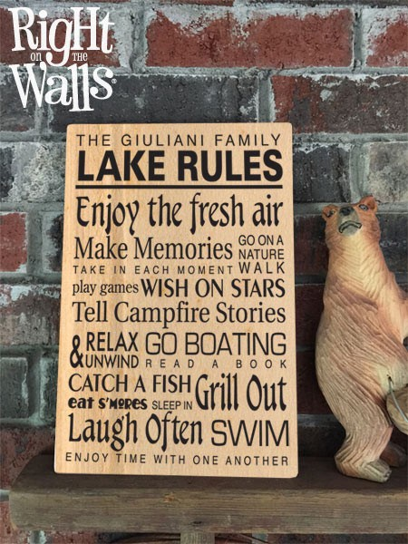 Custom Lake Rules Metal Sign