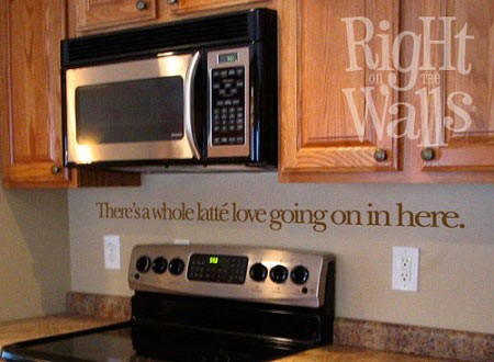 Whole Latte Love Kitchen Wall Decal