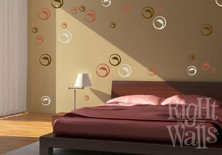 Leafy Circles Wall Decal Set