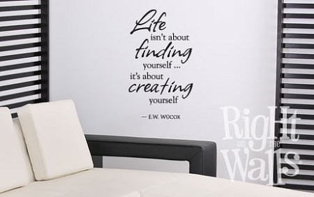 Life Is About Finding Yourself Wall Quote, Family Vinyl Wall Art, Wall Decal