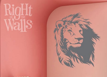 Lion Wall Decal, Jungle Animal Vinyl Wall Art