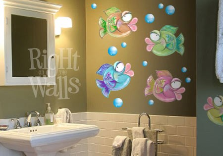 Lisa Fish Animal Mural Printed Vinyl Wall Decal