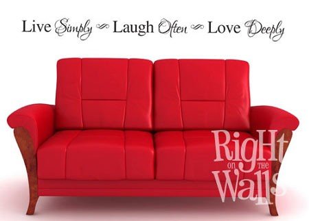 Live Simply Vinyl Wall Quote, Family Wall Decal