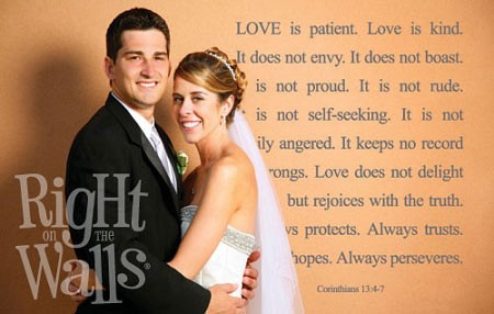 Love Is Patient Scripture Wall Quote, Family Wall Decal