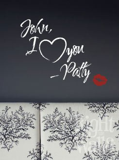 Personalized Love Note Wall Decal, Vinyl Wall Art, Wall Decor