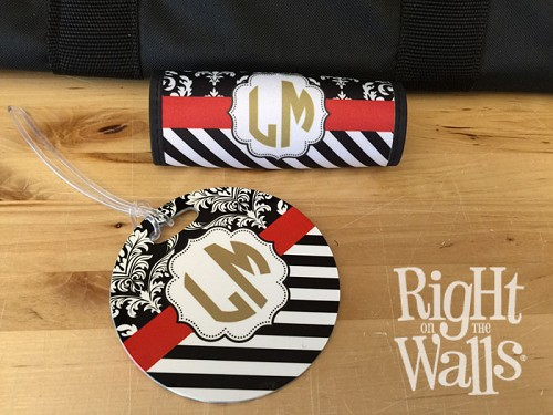 Multi-Pattern Luggage Tag Set with Monogram