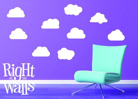 Miniature Cloud Wall Decals Vinyl Wall Art Stickers