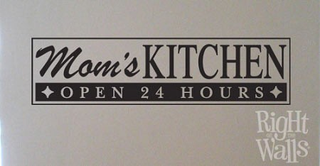 Mom's Custom Kitchen Wall Decal