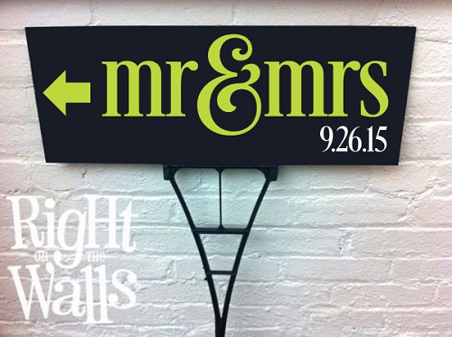 Mr & Mrs Outdoor Sign